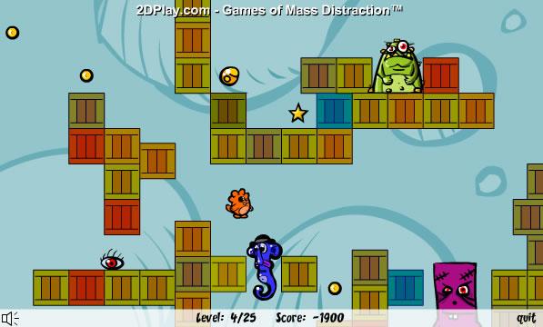 Screenshot vom Programm: Freaky Fun - Das lustige Jump'n Run Onlinespiel