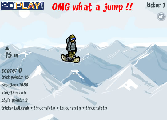 Screenshot vom Programm: Snowboard Stunts